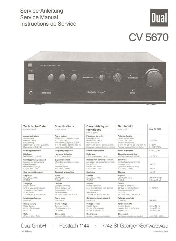 CV 5670 Dual Service Manual HighQualityManuals.com