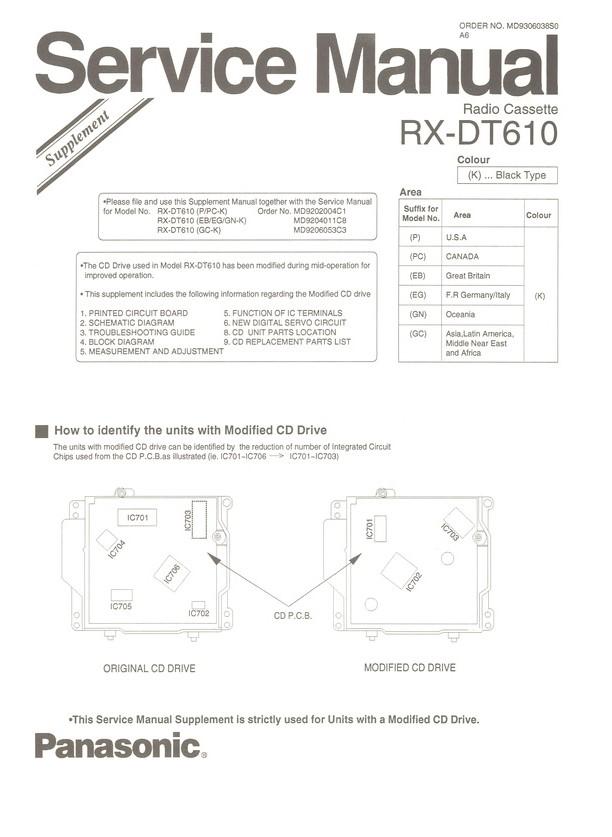 Panasonic Rx-dt610 инструкция - фото 2