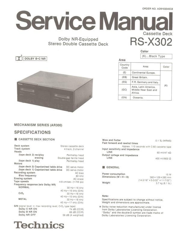 rs x302 technics service manual highqualitymanuals com rh highqualitymanuals com nokia x3-02 service manual download nokia x3-02 service manual