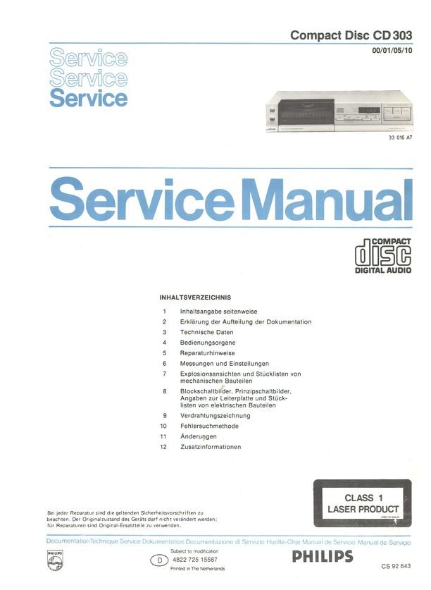 CD 303/10 Philips Service Manual HighQualityManuals.com