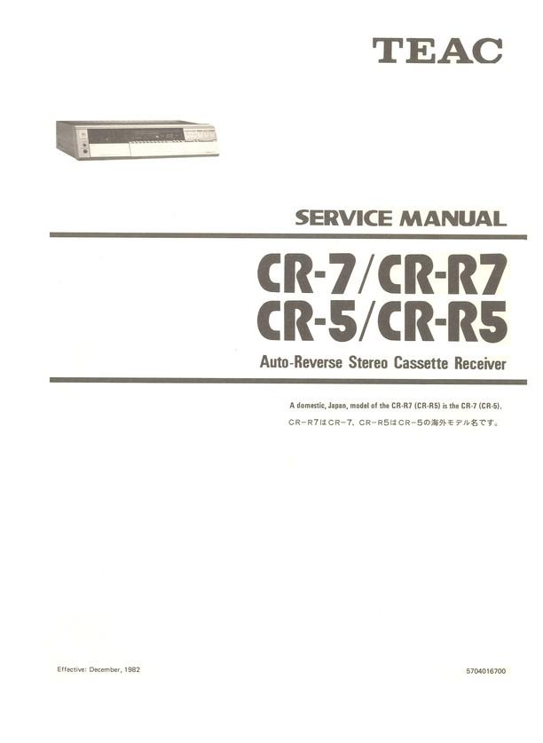 CR-R7 TEAC Service Manual HighQualityManuals com
