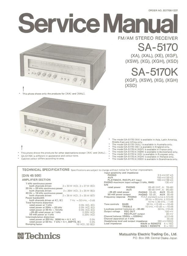 SA-5170/K Technics Service Manual HighQualityManuals com