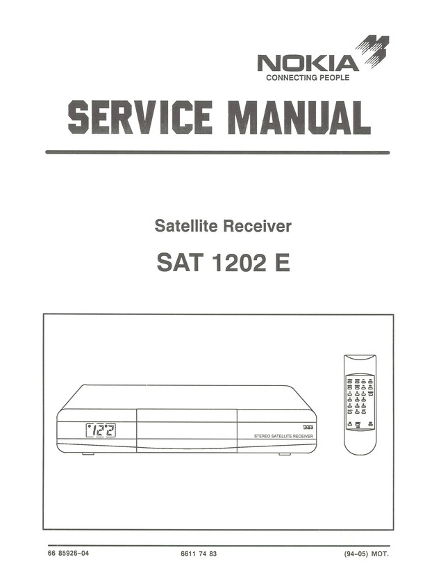 SAT 1202 E Nokia Service Manual HighQualityManuals com