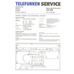 CR 100 Telefunken Service Manual HighQualityManuals com
