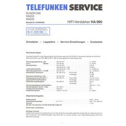 HA 990 Telefunken Service Manual HighQualityManuals com